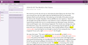 Corrections and comments on student work via OneNote