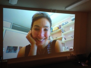 Dr Michelle Dickinson a.k.a. Nano Girl Skyping with our students in Year 4 & Year 6