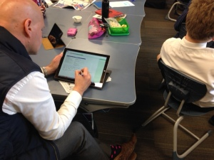 Using a SurfacePro 3 to provide feedback into student OneNote notebooks