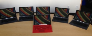Six SurfacePro3 for use in classrooms at St Andrew's College