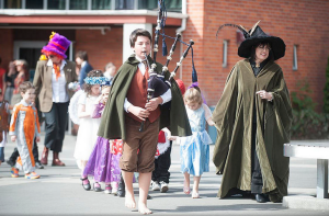 The annual Preparatory School Book Week Parade