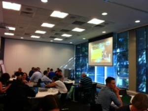 A training session in Microsoft's Sydney Offices
