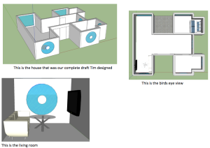 Floor plans designed in Sketchup by Tim and James