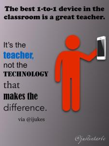 An important point not to lose sight of: it's the teacher, not the technology, that makes the difference!