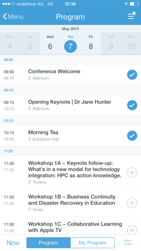 The first few sessions on Day 1 of the Conference