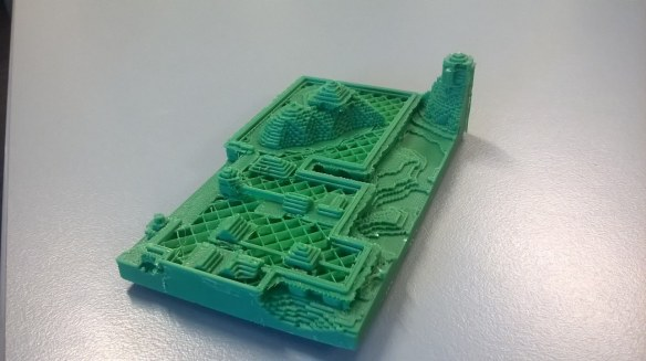 Printed Example of a 3D setting