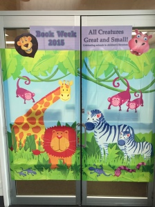Entrance to the Preparatory School Library celebrating Book Week 2015