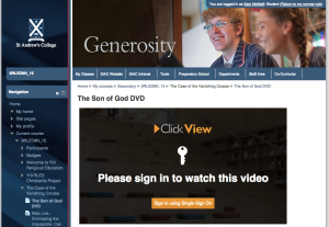 Students can access the ClickView video through Moodle using their Single Sign on credentials