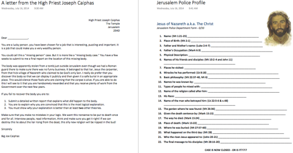 Two pages from the PDF version of the OneNote - click to download