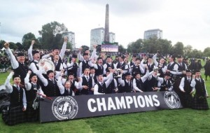 The 2014 World Champion Pipeband from St Andrew's College
