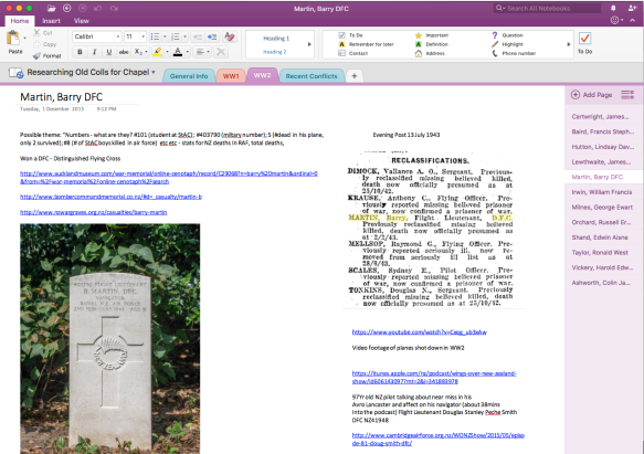 OneNote for research